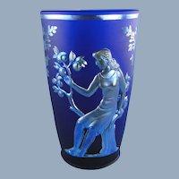 Fenton Glass Seasons Favrene Vase Limited Edition Verlys