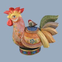 G. DeBrekht Farmyard Friends Rooster Russian Folk Art