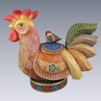 G. DeBrekht Farmyard Friends Rooster Russian Folk Art