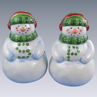 Snowman Salt Pepper Shakers Tim Coffey Design Vintage Holiday Christmas