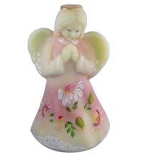 Fenton Glass Burmese Praying Angel Daisies Limited Edition