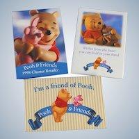 Three Pooh and Friends Pins Disney Winnie Pooh