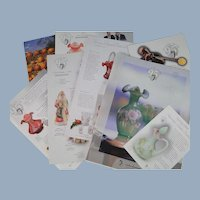 Fenton Glass Catalog Plus Spring, Limited Editions, Christmas 2000