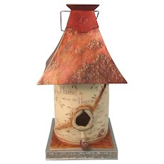 Decorative Birdhouse Hearts Bird House