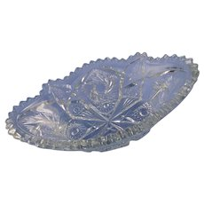 Vintage Clear Pressed Glass Dish for Serving
