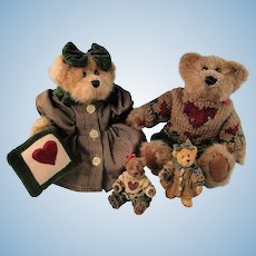 Boyds Bears Matthew and Bailey with Ornaments Limited Edition Set