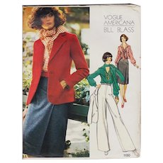 Vogue Americana Pattern 1150 Blass Uncut Jacket Slacks Shirt Vintage