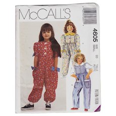 McCalls Pattern 4605 Girl's Jumpsuit Children Play Outfit