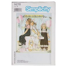 Simplicity Pattern 9218 Daisy Kingdom Overalls Vintage Design Uncut