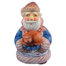 DeBrekht Santa Cat Purrfect Pair Russian Folk Art