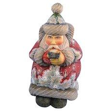G. DeBrekht Santa with Bird Kindness Russian Folk Art