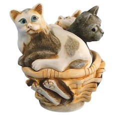 Harmony Kingdom Cat Nap's Meow Box Figurine with Tour Button