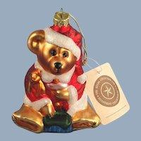 Boyds Bears Santa Mercury Glass Ornament Premiere Edition