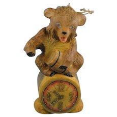 DeBrekht Ornament Honey Bear with Clock Signed Rare