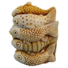 Harmony Kingdom Royal Flotilla Fish Pendant Rare Early Production