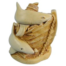 Harmony Kingdom Tin Cat Sharks Treasure Jest Version One