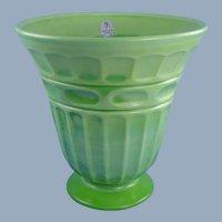 Fenton Glass Chameleon Green Vase Heritage Design