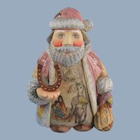 G. DeBrekht Santa Horseshoe Lucky Travels Russian Folk Art