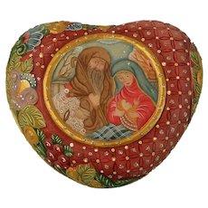 G. DeBrekht Holy Family Heart Box