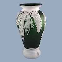 Fenton Glass Pinecones Vase Kelsey Murphy and Bomkamp Limited Edition