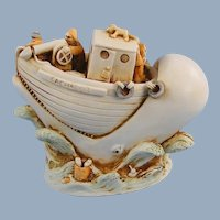 Harmony Kingdom Catch a Lot Ship Whale Treasure Jest