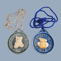Artesania Rinconada Medallions Teddy Bear and Pelican