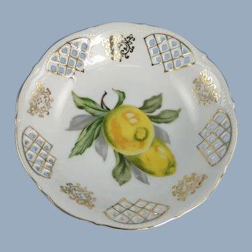 UCAGCO Reticulated Dish Occupied Japan Lemons Design