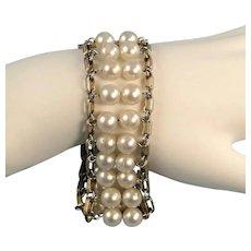 Sarah Coventry Faux Pearl Bracelet Vintage