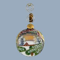 G. DeBrekht Winter Wonderland Ornament Russian Hand Painted Christmas