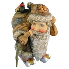 DeBrekht Santa Kris Kringle with Skis Russian Folk Art Christmas