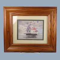 Framed Print Lighthouse Roanoke River North Carolina