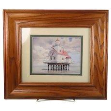 Framed Print Lighthouse Roanoke River North Carolina