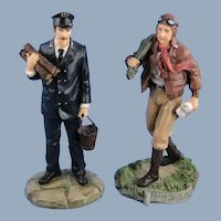 Harbour Lights Figurines Set Lighthouse Keeper, Flying Santa