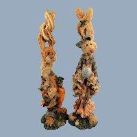 Boyds Folkstone Bunnies Set of Two 1E Rare Vintage