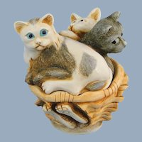 Harmony Kingdom Cat Nap's Meow Box Figurine with Tour Button