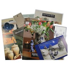 Lot Rowe Pottery Works Catalogs 1998 1999 Assortment