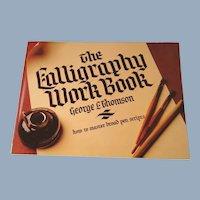 Calligraphy Work Book Vintage