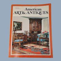 American Art & Antiques Magazine August 1978 Premiere Issue