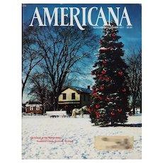 Americana Magazine December 1977 Vintage