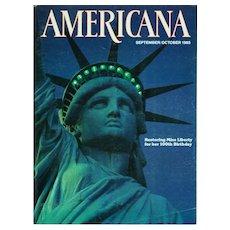 Americana Magazine September-October 1985 Vintage