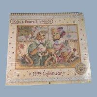 Boyds Bears Calendar 1999 Vintage Unused in Shrink Wrap