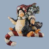 Holiday Penguins Magnet Boyds Bears Vintage