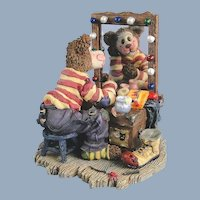 Boyds Bearstone Bear Graffitie Clown and Pin Circus Special Event