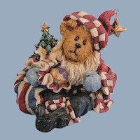 Boyds Bears Nicholas Bearyproud Christmas Bearstone Exclusive