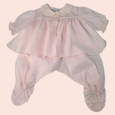 Infant Baby Outfit Pink Cotton Vintage Feltman Bros