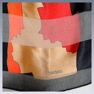 Vintage Loredano Large Silk Scarf Multi Colors