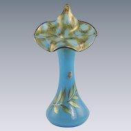 Fenton Tulip Vase Sky Blue Limited Edition Family Signature Series