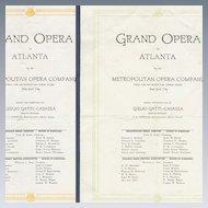 1919 Programs Grand Opera Atlanta Caruso Ponselle Easton