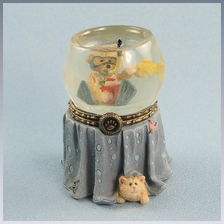 boyds goldie s fish bowl trinket box uncle bean s treasure boxes