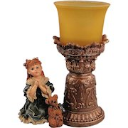 Boyds Dollstone Teresa and John The Prayer Votive Holder